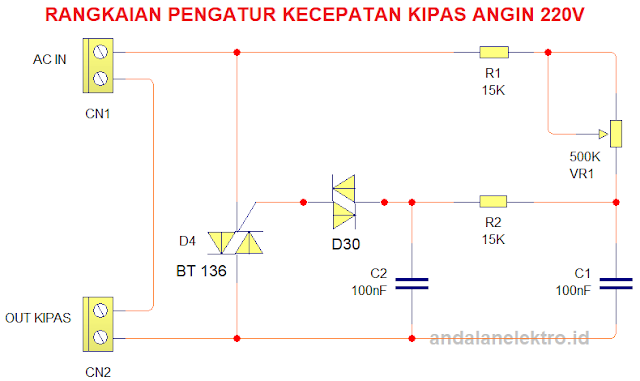 skema pengatur kecepatan kipas sederhana