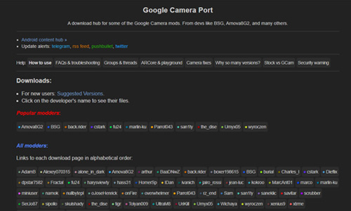 Google Camera port hub