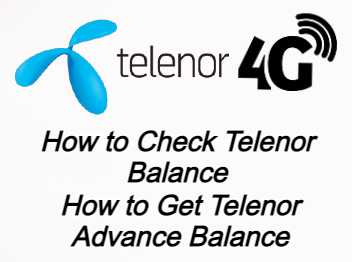 Telenor Balance Check Code 2021 | Telenor Advance Balance Code 2021