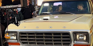 Jon Cor inside the car with his co-star while shooting film