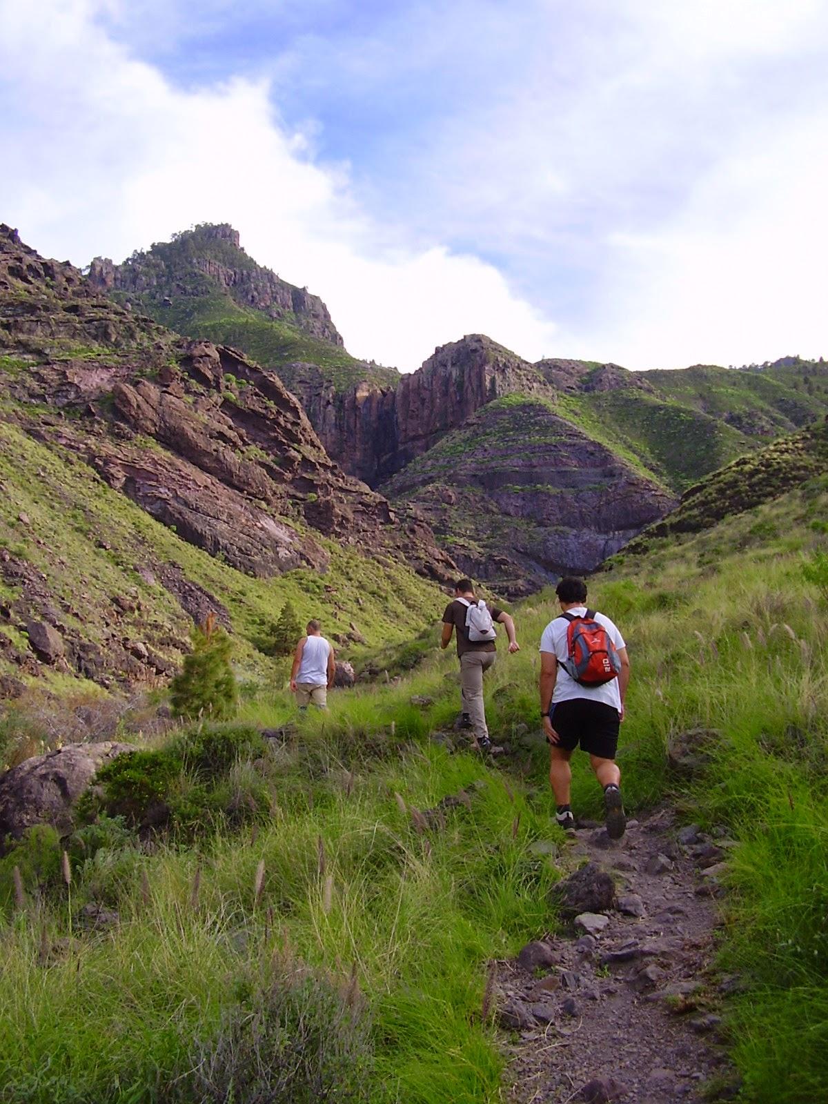 Camino al Charco Azul en el Risco de Agaete