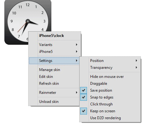Rainmeter-widget-customize