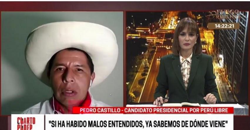 PEDRO CASTILLO: Candidato presidencial ofrece dar seguridad jurídica a las empresas