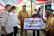 Dampingi Gubernur Pantau Vaksinasi di Talaud, Dirut BSG Serahkan Bantuan Kebutuhan Desa