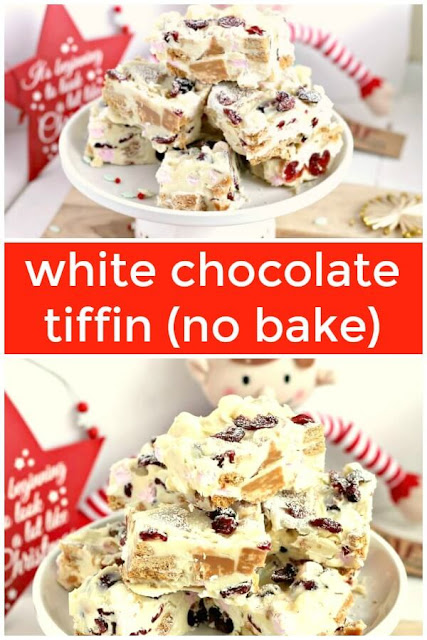 white chocolate tiffin #nobake