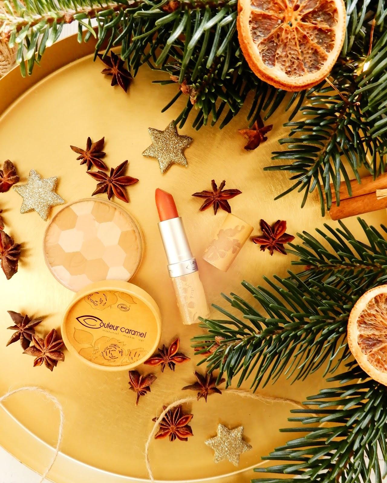 Puder Mozaika Couleur Caramel do twarzy w kolorze 232, Naturalna szminka o numerze 224 Couleur Caramel,