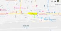 Peta lokasi Titik Jemput Penumpang Ojek Online Gojek-Grab di Bandara Adisucipto Yogyakarta