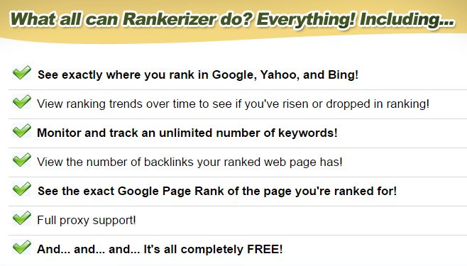 [GIVEAWAY] Rankerizer [Keyword Rank Checker Tool]