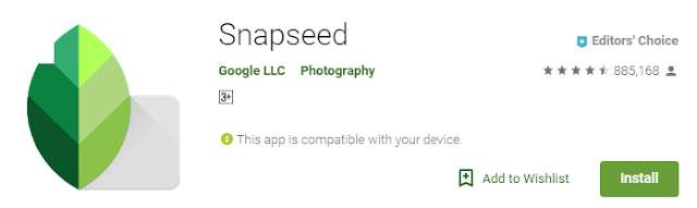 Snapseed editing app