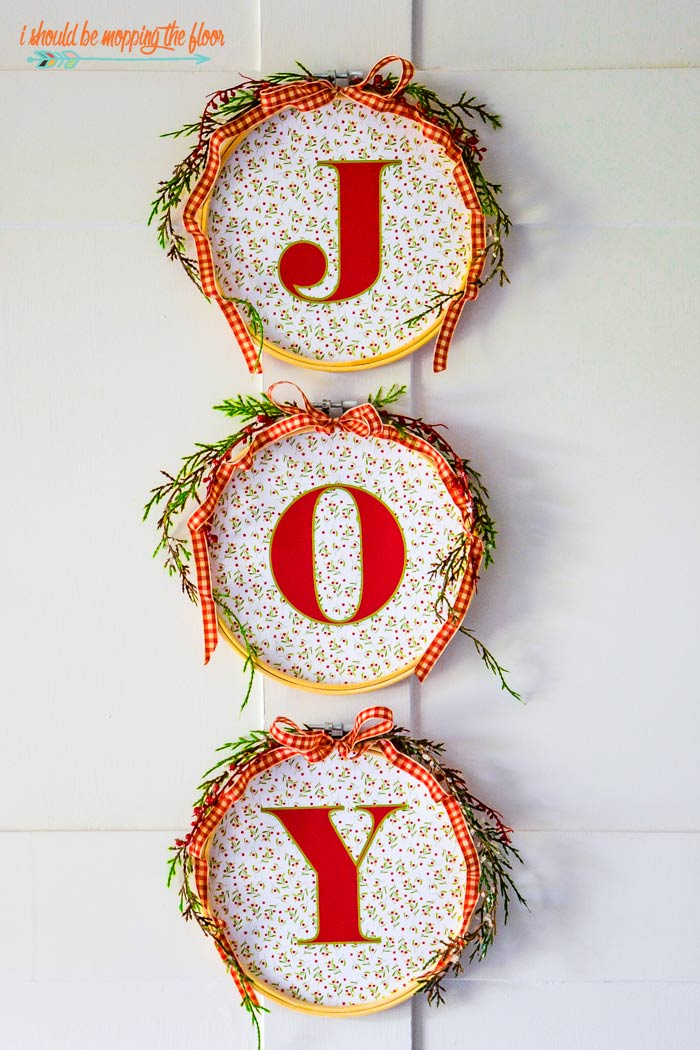 JOY Christmas Hoops