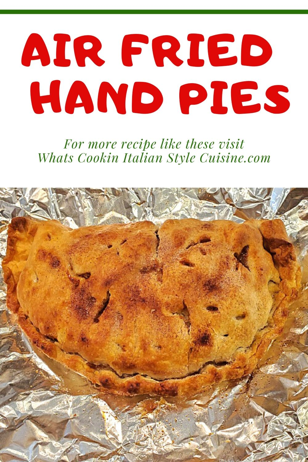this is a pin on how to make hand pies in an air fryer