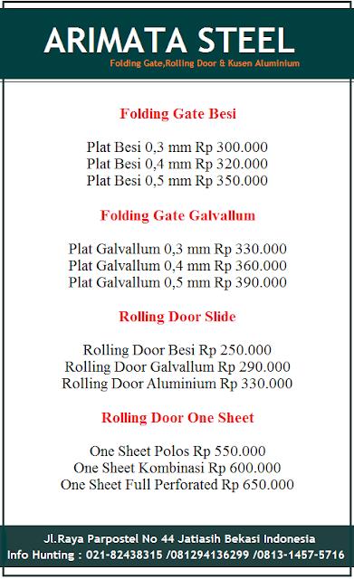 gambar harga folding gate dan rolling door