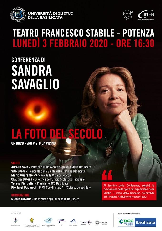 """Potenza, """"La foto del secolo: un buco nero visto da vicino"""": conferenza dell'astrofisica Savaglio"""