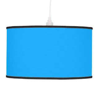 Aqua blue pendant lamp