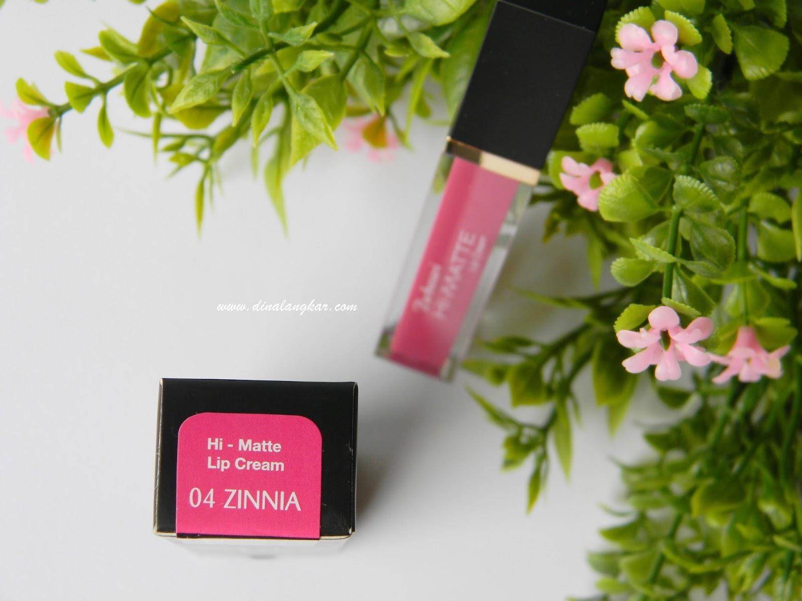 Purbasari Hi Matte Lip Cream No4 Zinnia Review Yulini Fahdina Ini Sudah Disertai Vitamin E Dan Uv Filter Yang Artinya Dapat Melindungi Dari Paparan Sinar Matahari Menjaga