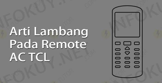 arti lambang pada remote ac tcl