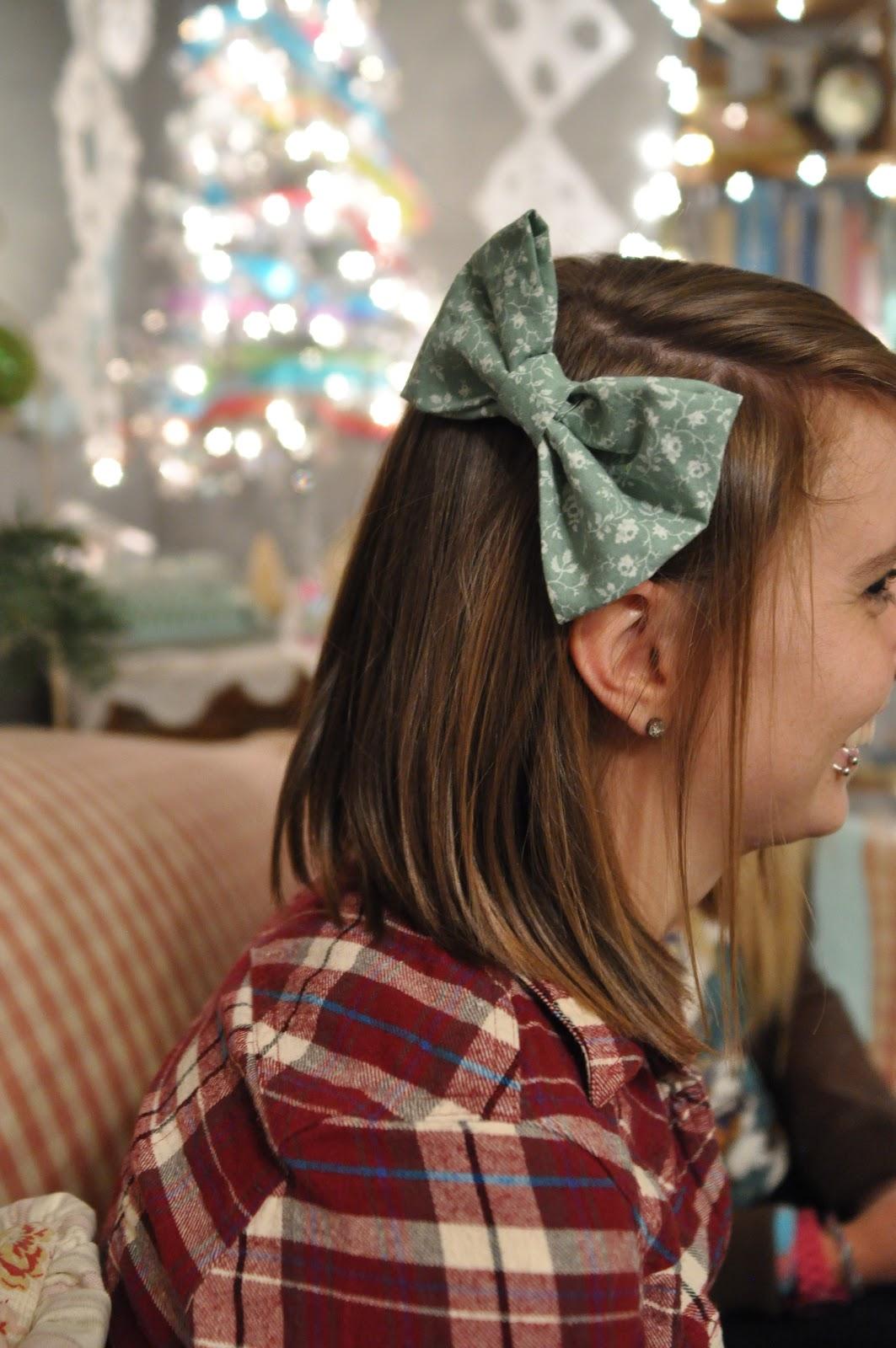 Domestic Fashionista Diy Fabric Hair Bows