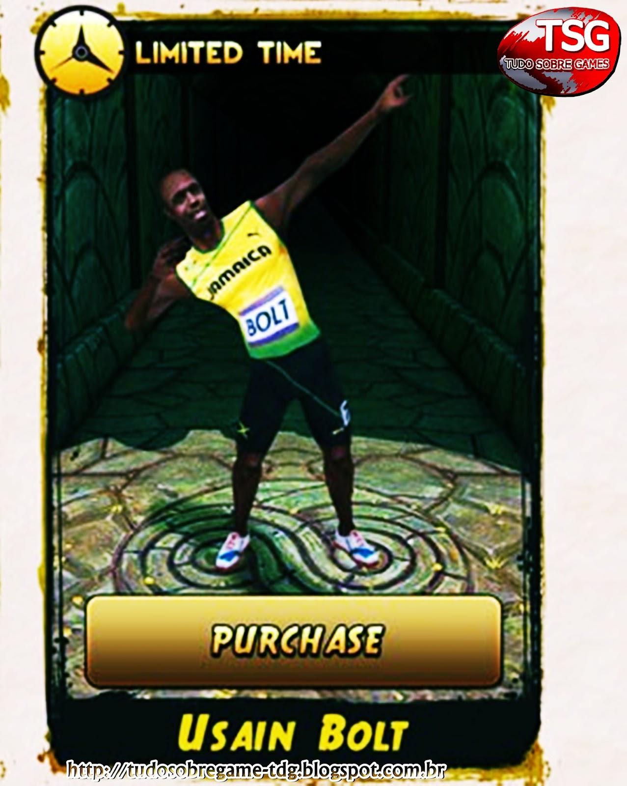 Recordista dos 100 m rasos. Usain Bolt vira personagem em game