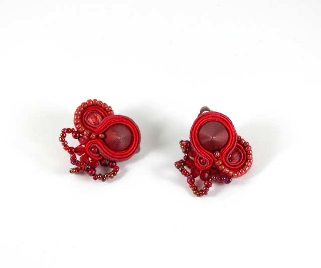 soutache earrings, soutache handmade jewelry
