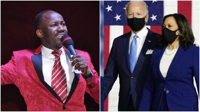 Listen to Apostle Suleman's shocking prediction about Trump's loss, Biden's impeachment, Kamala Harris taking over (video)