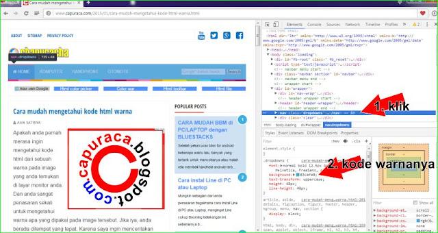cari tau kode html warna