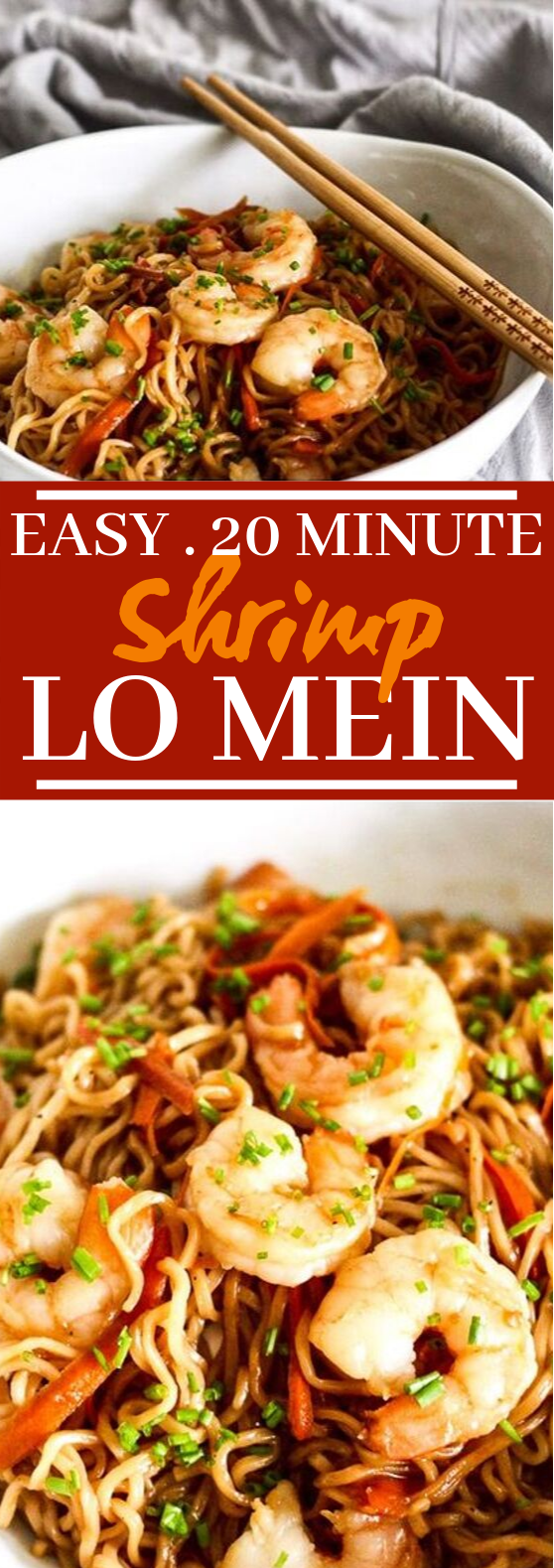 Easy Shrimp Lo Mein #dinner #shrimp
