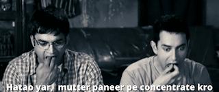 Farhan and rancho having dinner | 3 idiots meme templates