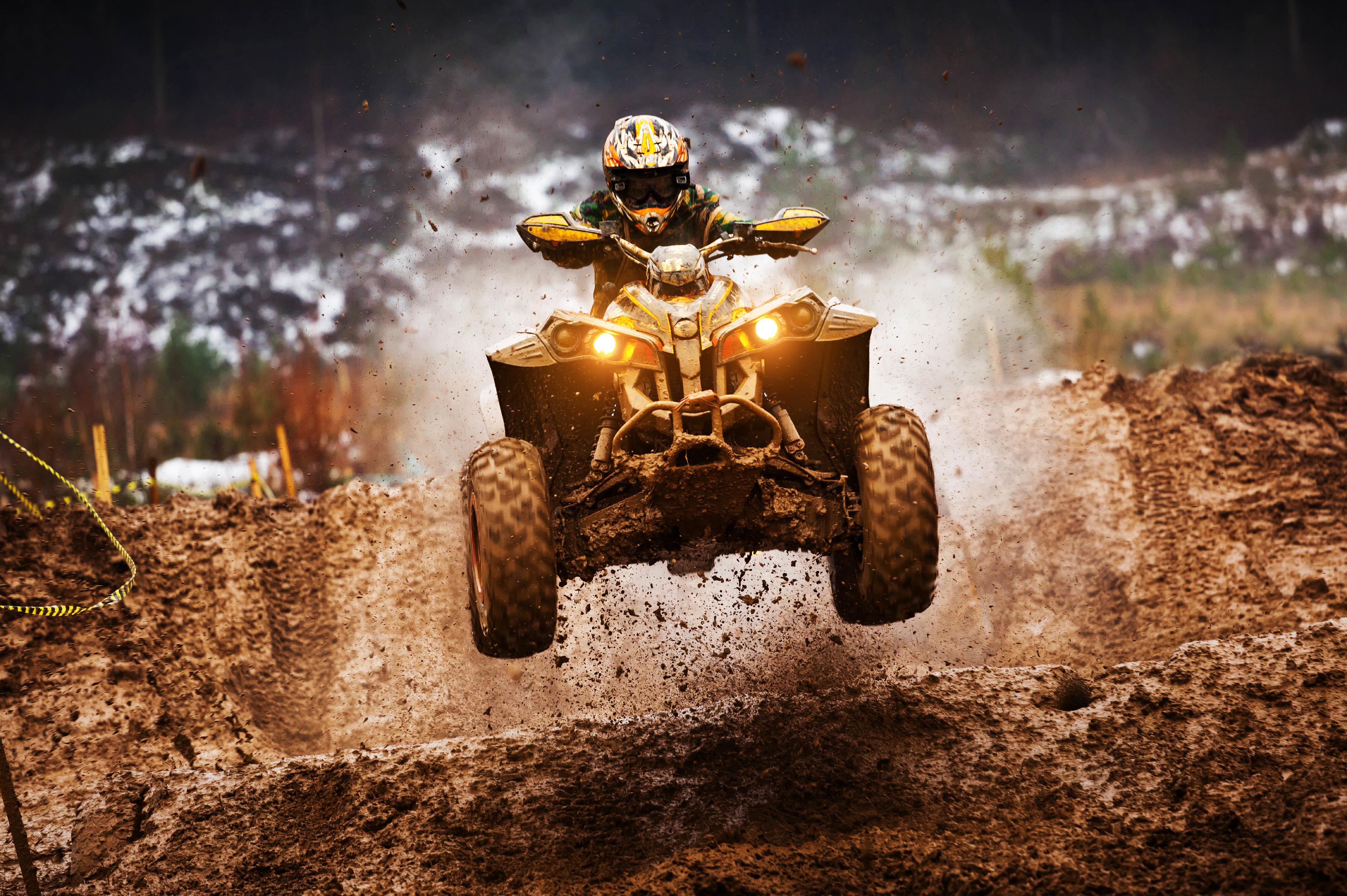 ATV Motocross, Quadricycle, 4K, Sports