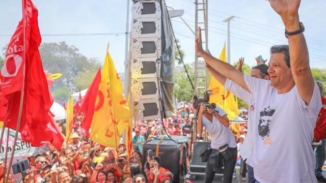 Haddad lidera no Nordeste com 34% das intenções de votos; Ciro tem 18%