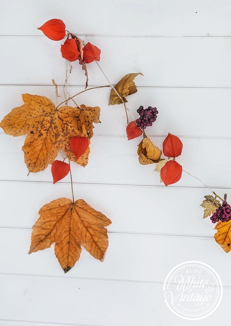 DIY-Deko Girlande für den Herbst.
