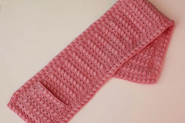 3 -Crochet Imagen Bufanda con bolsillos a crochet y ganchillo por Majovel Crochet