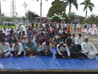 Dandim 0910/Malinau Laksanakan Sholat Idul Fitri Bersama Warga Sekitar Malinau Kota