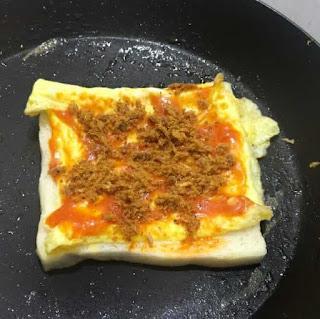 Roti Lapis ala Tiktok Saos Abon - NMUTTY.com
