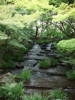l'acqua che scorre e forma tante piccole cascatelle