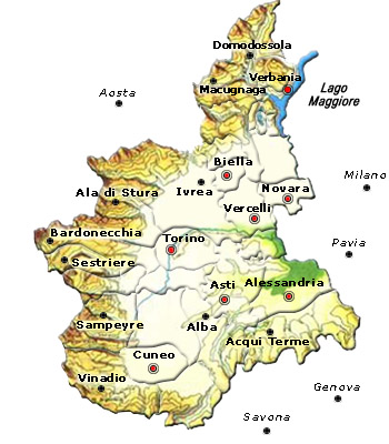 Piemonte Cartina Geografica Fisica.Italy Map Geographic Region Province City Piemonte Map Gography Regions