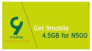 Get 9mobile 4.5GB for N500