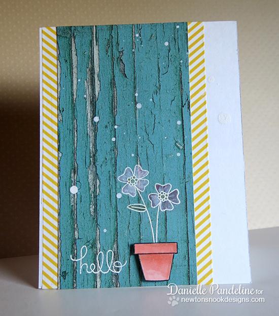 Hello Floral Card by Danielle Pandeline for Newton's Nook Designs | Versatile Vases