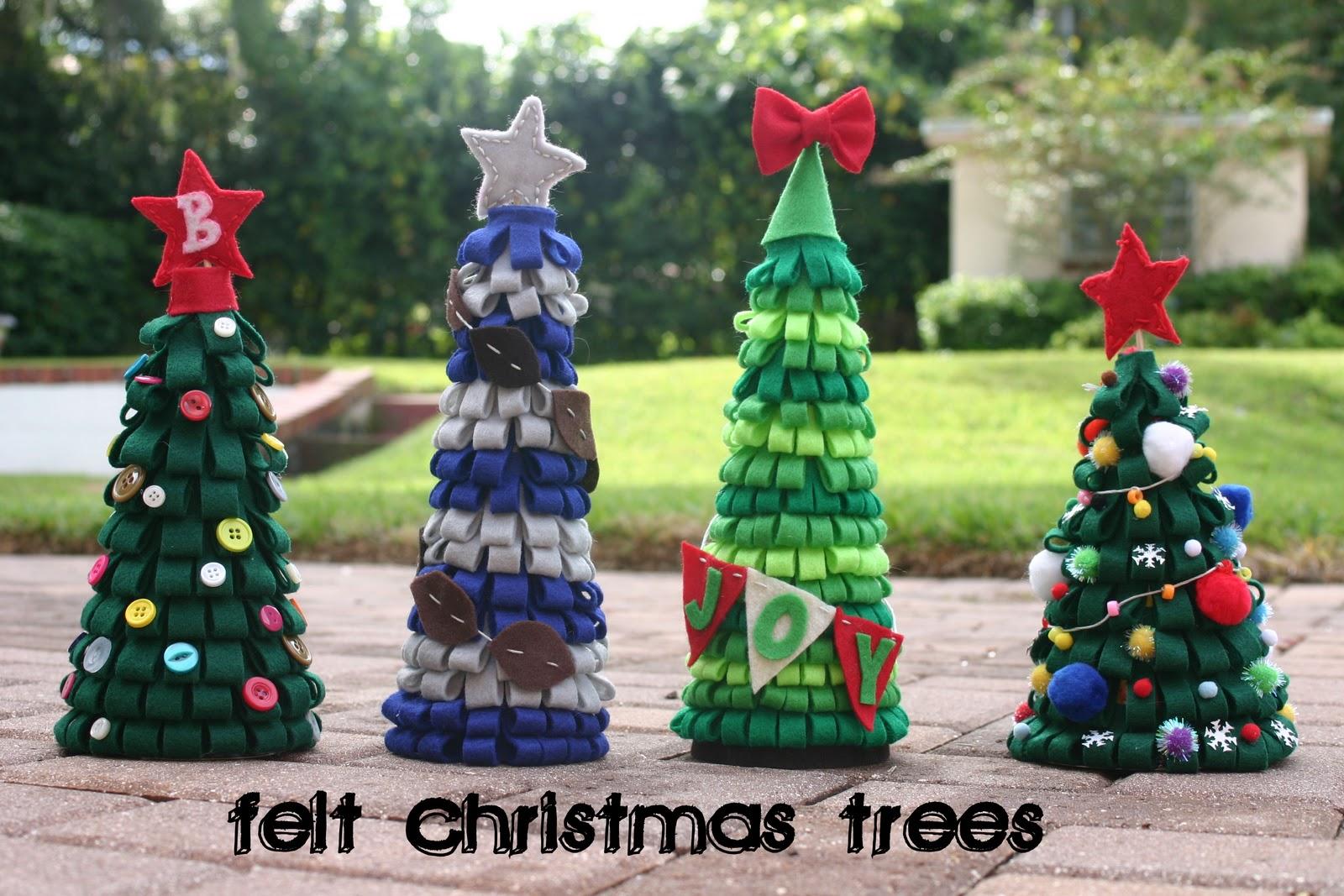 Felt Christmas Trees - Lines Across