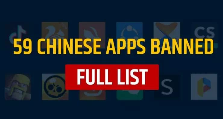 59 Chinese App Ban in India - Chinese App Ban List