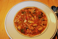 Vegetarian minestrone soup for a cold day