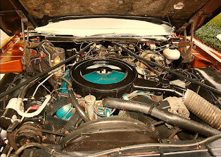 1974 Oldsmobile Toronado Landau Engine Picture