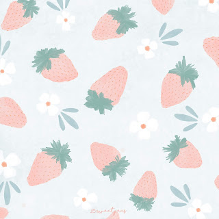 25_Sweetpeas_Strawberry_Pattern