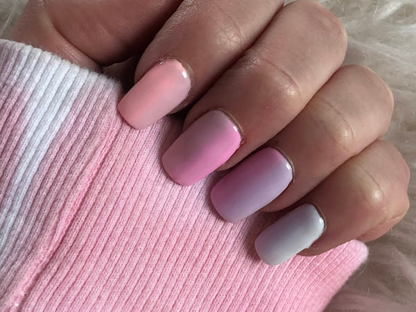 New Nails | Pastel Ombre Rainbow