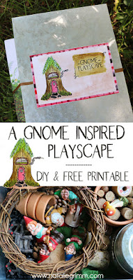 Gnome Sensory Playscape DIY with Printable