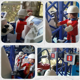 playmobil space center  mission control and figures