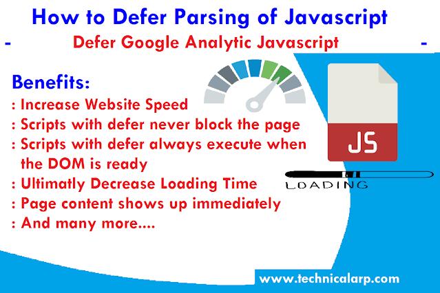 Defer Google Tag Manager & Google Analytics Script