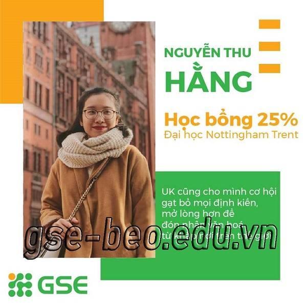 Chia sẻ của Nguyễn Thu Hằng - Đại học Nottingham Trent - Học bổng 25%