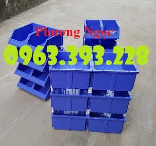 Kệ dụng cụ xếp chồng, khay linh kiện có tắc kê, hộp nhựa cơ khí 89f8fa4c3fafddf184be