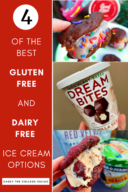 Looking for the best #glutenfree and #dairyfree ice cream brands? Here are 4 #vegan #icecream options to try! #Sugarfree, #healthy options included!