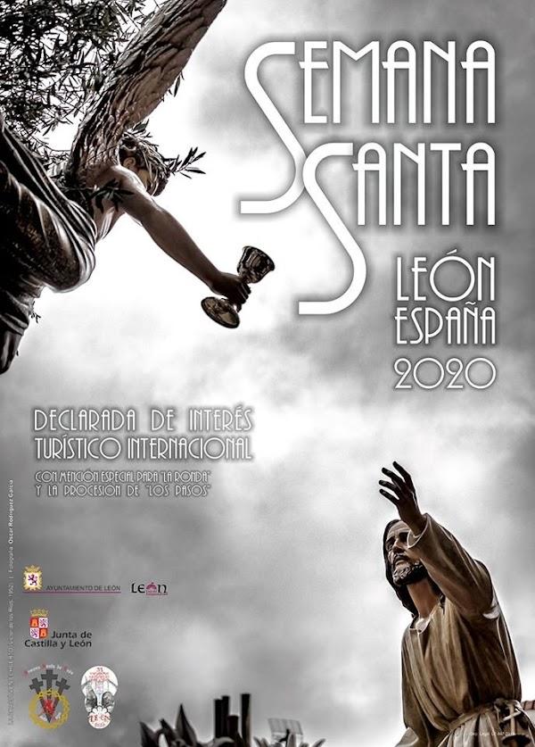 Cartel de la Junta Mayor para la Semana Santa de León 2020